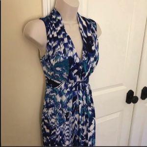 Chico's watercolor maxi dress